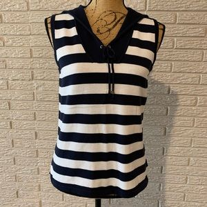 NWT Christopher & Banks sleeveless v-neck with tie